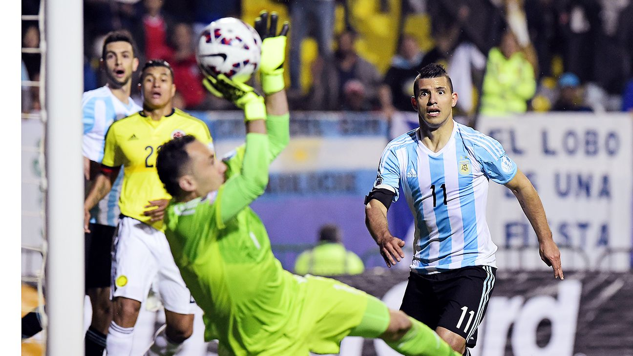 Time and again Colombia goalkeeper David Ospina came to the rescue against Sergio Aguero and Argentina.