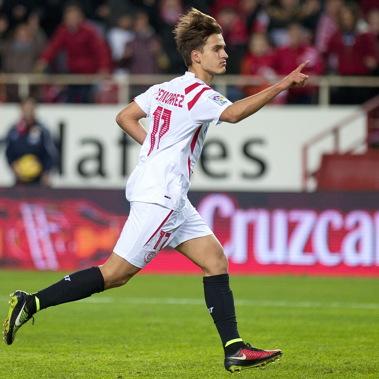 Denis Suarez appeared in 31 matches for Sevilla in 2014-15.