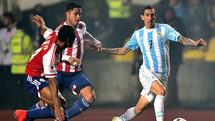 Angel di Maria's brace early in the second half squashed any hopes of a potential Paraguay comeback.