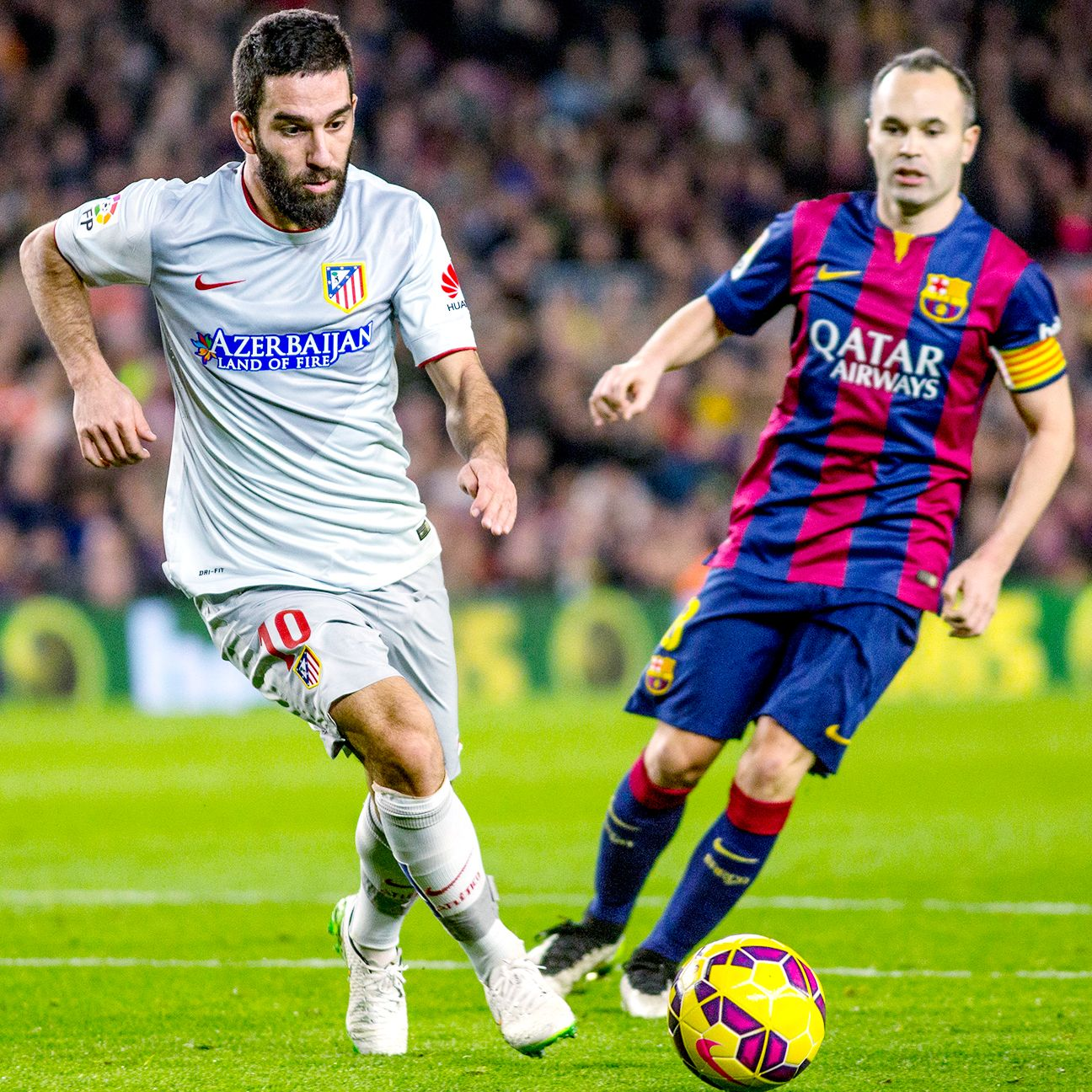 After spending the previous four seasons playing against Andres Iniesta, Arda Turan could well assume the Barcelona midfielder's role at the Camp Nou in the near future.
