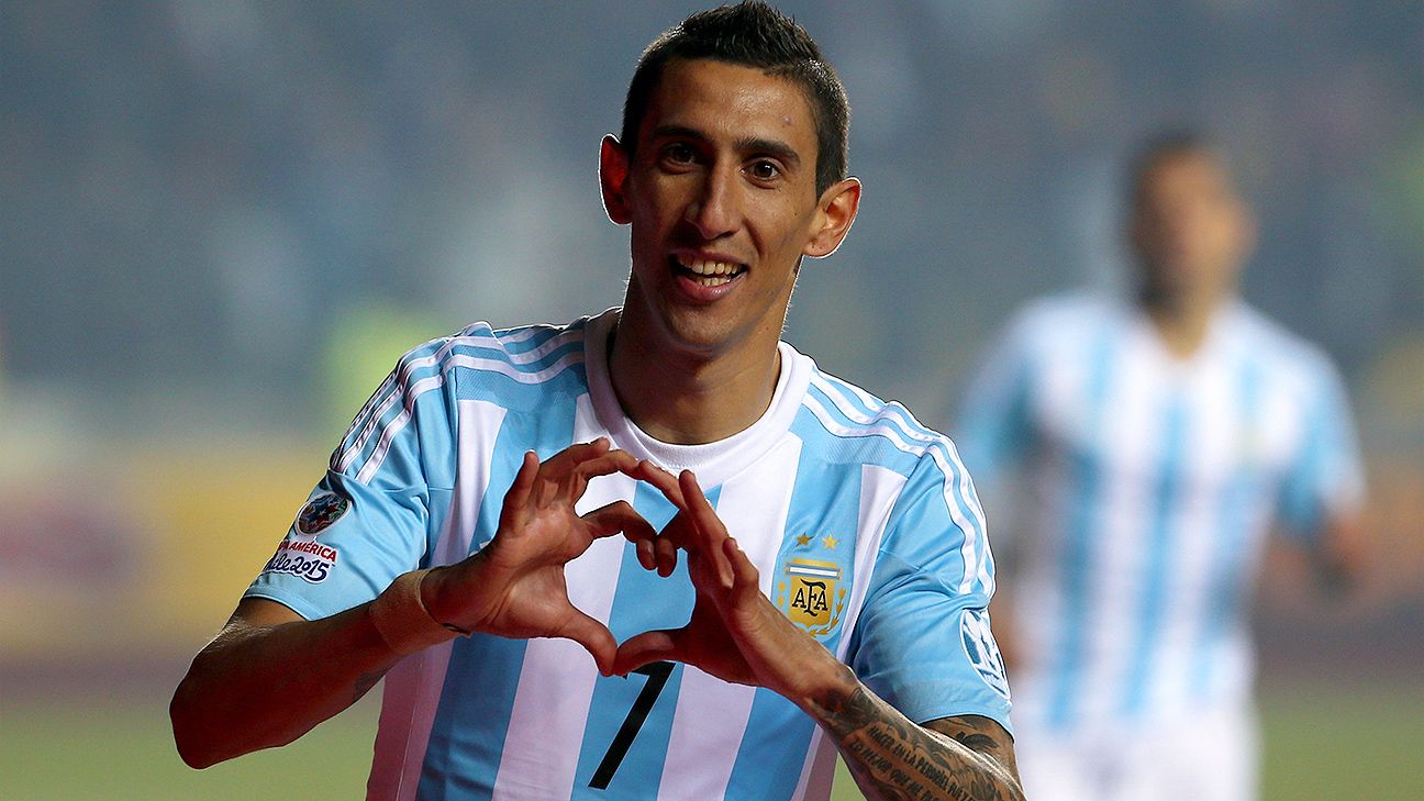 Andel Di Maria helped lead Argentina's 6-1 romp over Paraguay in a Copa America semifinal with a second-half brace.