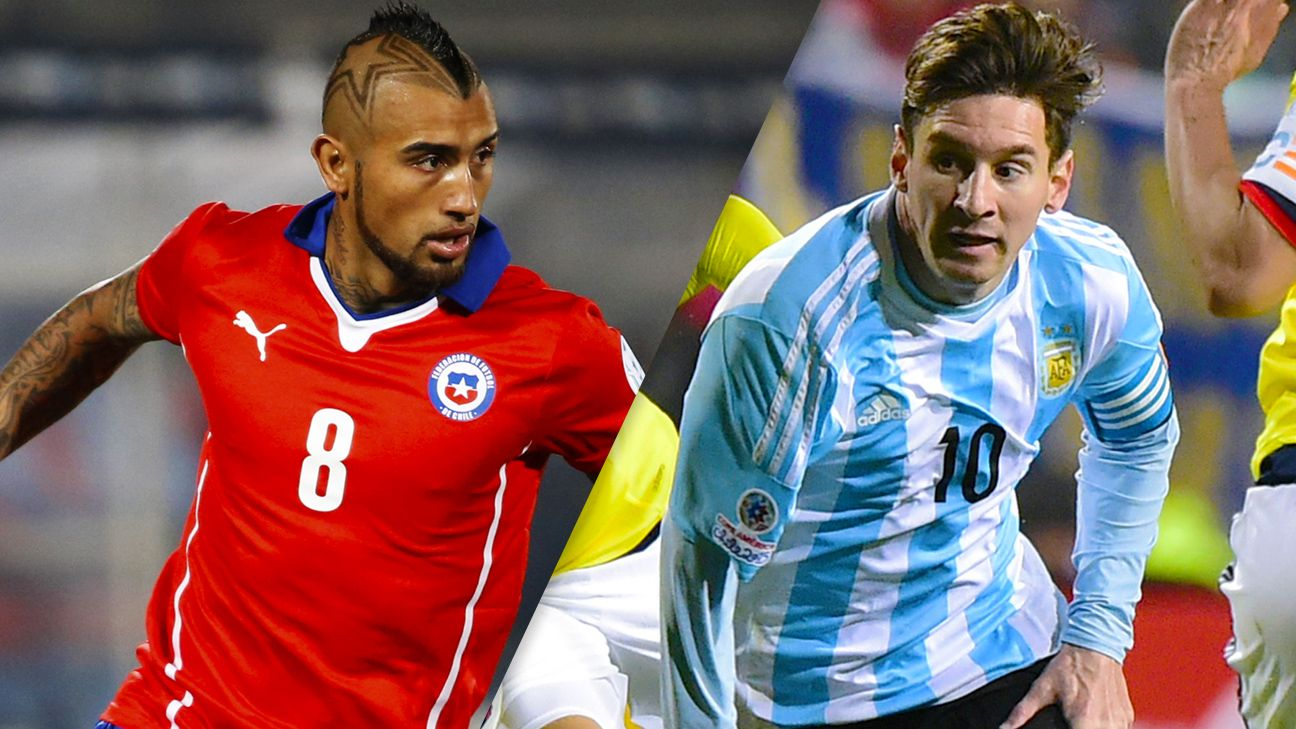 Arturo Vidal and underdog Chile take on Lionel Messi and Argentina in the Copa American final.