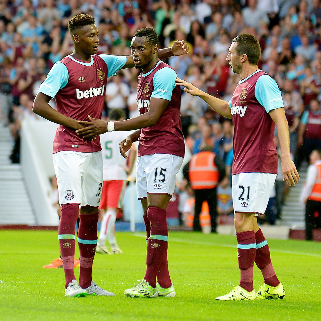 West Ham started their 2015-16 season on the right foot with a 3-0 Europa League win over FC Lusitanos of Andorra.