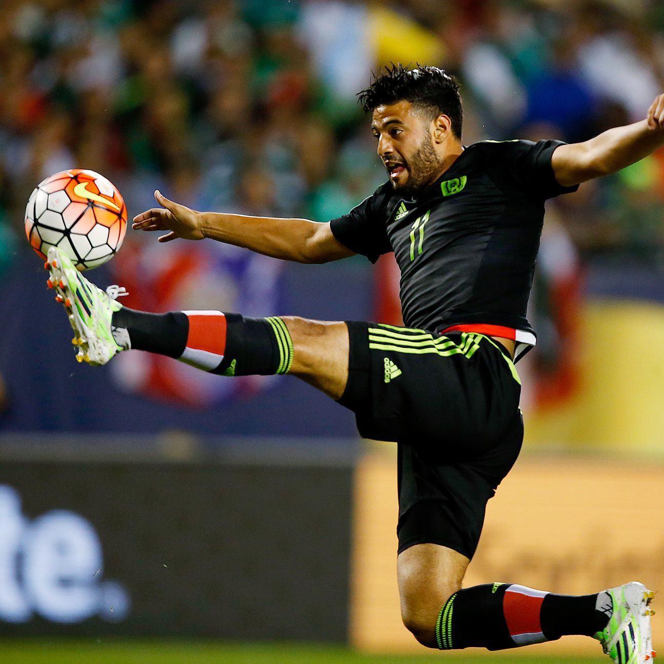 Carlos Vela scored his first goal in an official match for Mexico since a 2010 World Cup qualifier.