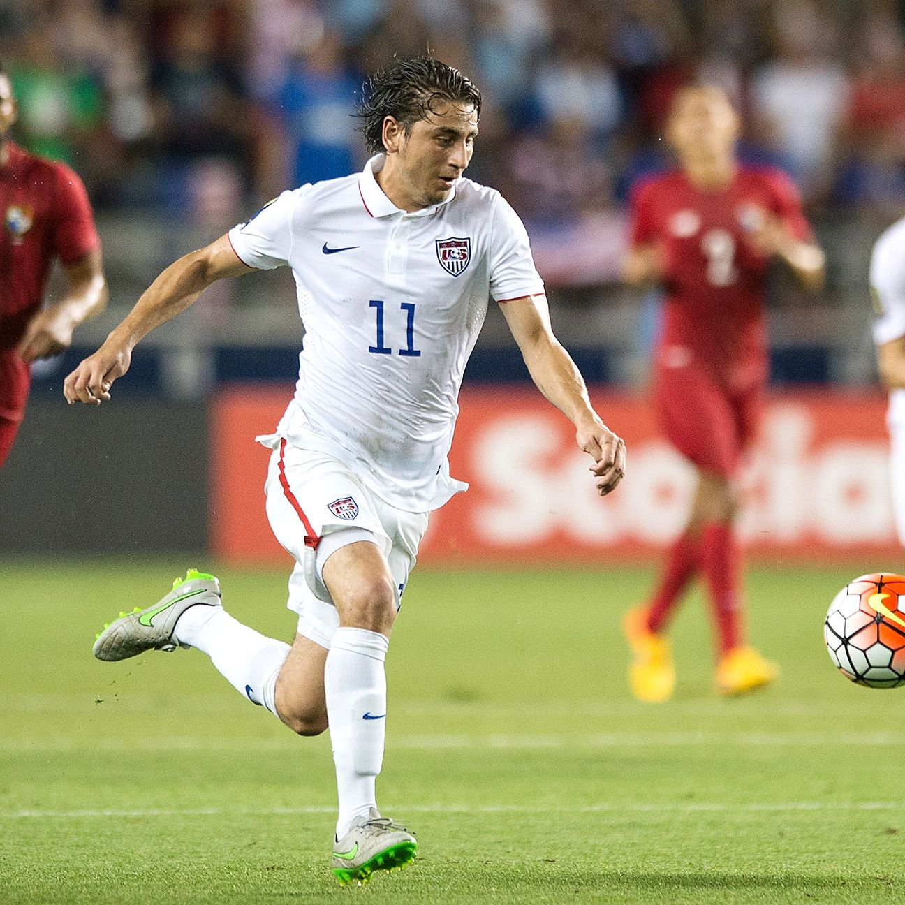 Despite playing a holding midfield role against Brazil, Alejandro Bedoya remains the likely No. 1 right midfield option.