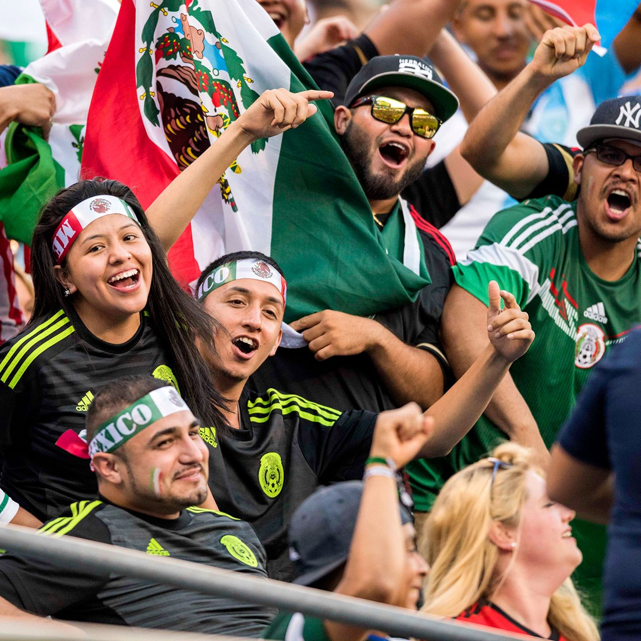 As usual, Mexico fans showed up in great numbers to support their team in Charlotte.