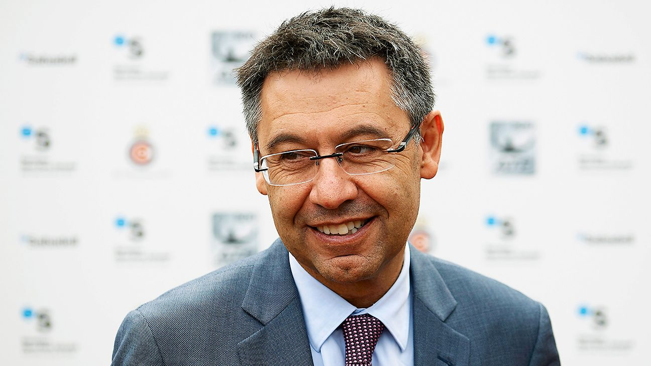 Josep Maria Bartomeu became Barcelona president following the 2014 resignation of Sandro Rosell.