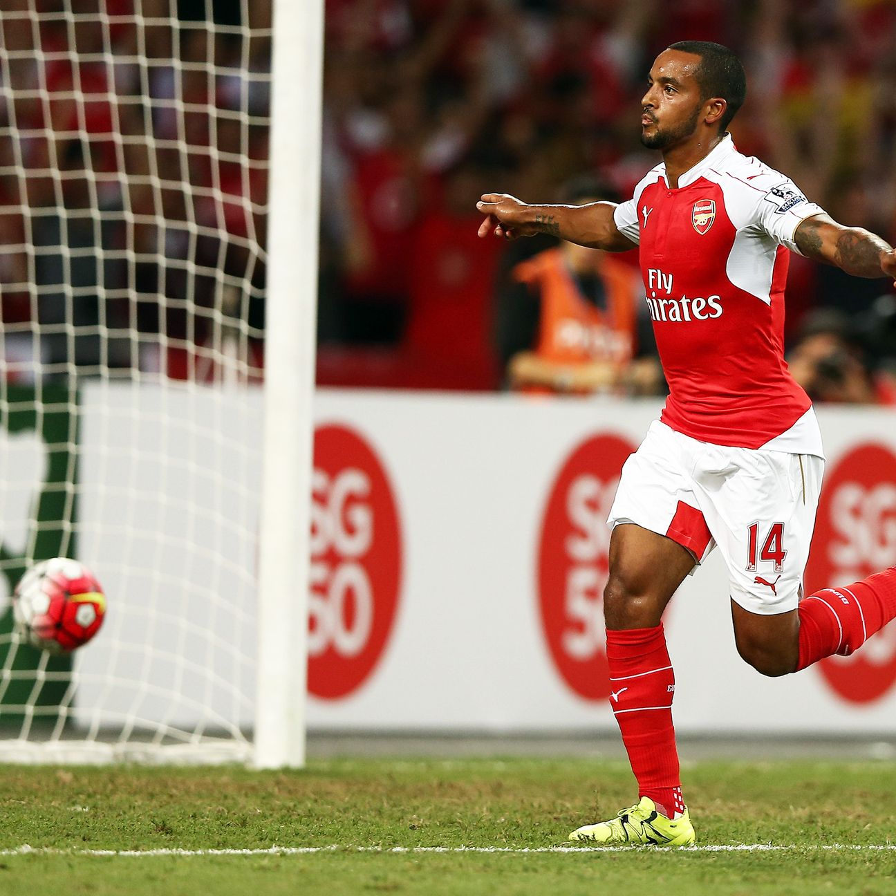 Theo Walcott is thriving in his new role as Arsenal centre-forward.