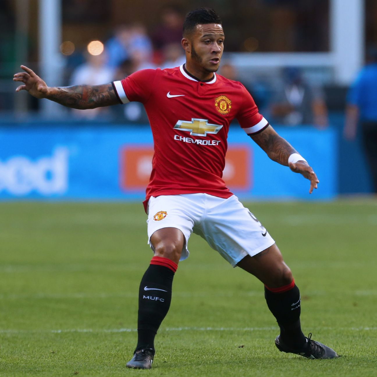 Manchester United's Memphis Depay will face former club PSV Eindhoven in Group B.