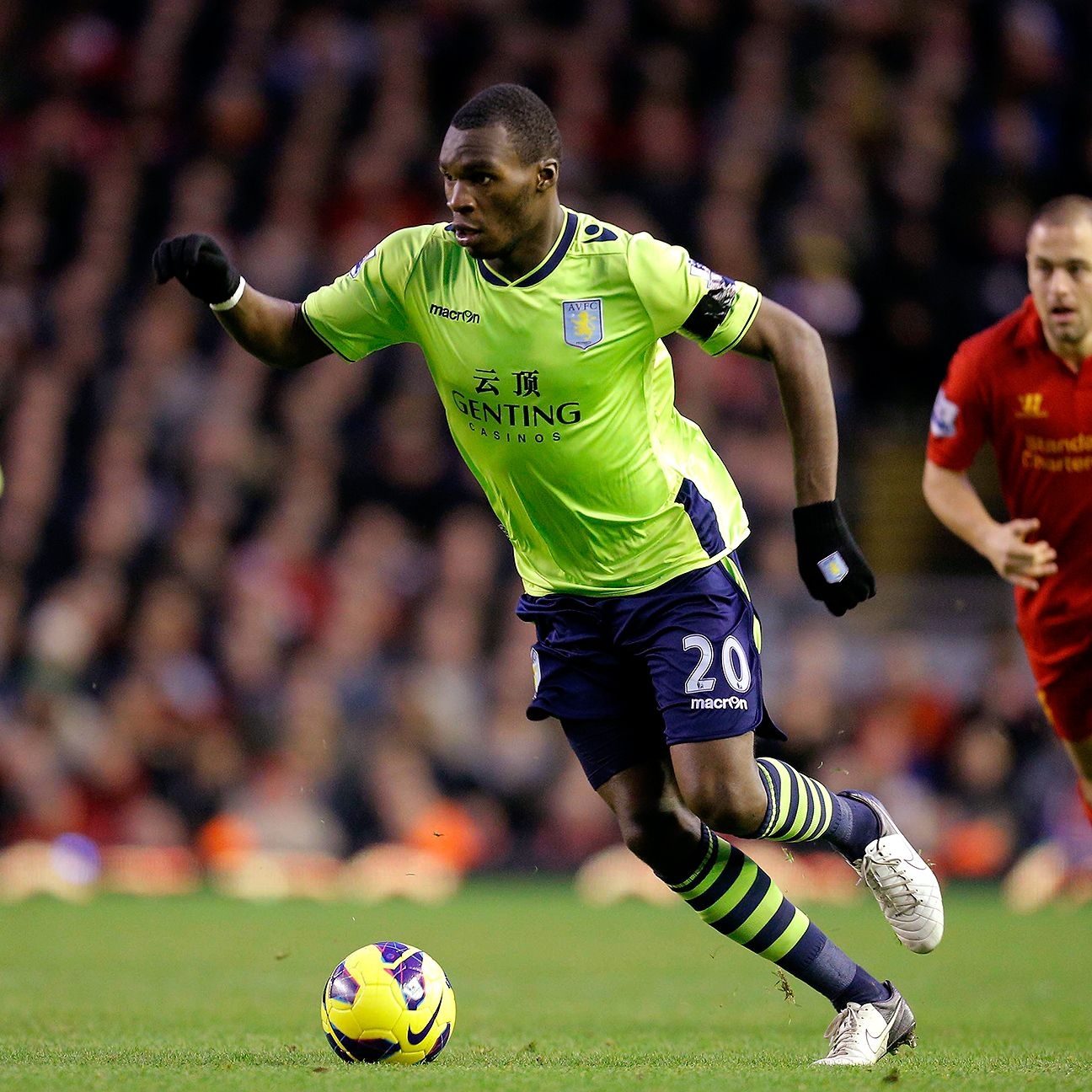 Christian Benteke set Anfield alight in his first Premier League appearance against Liverpool with a brace and an assist in Aston Villa's 3-1 win back in 2012.