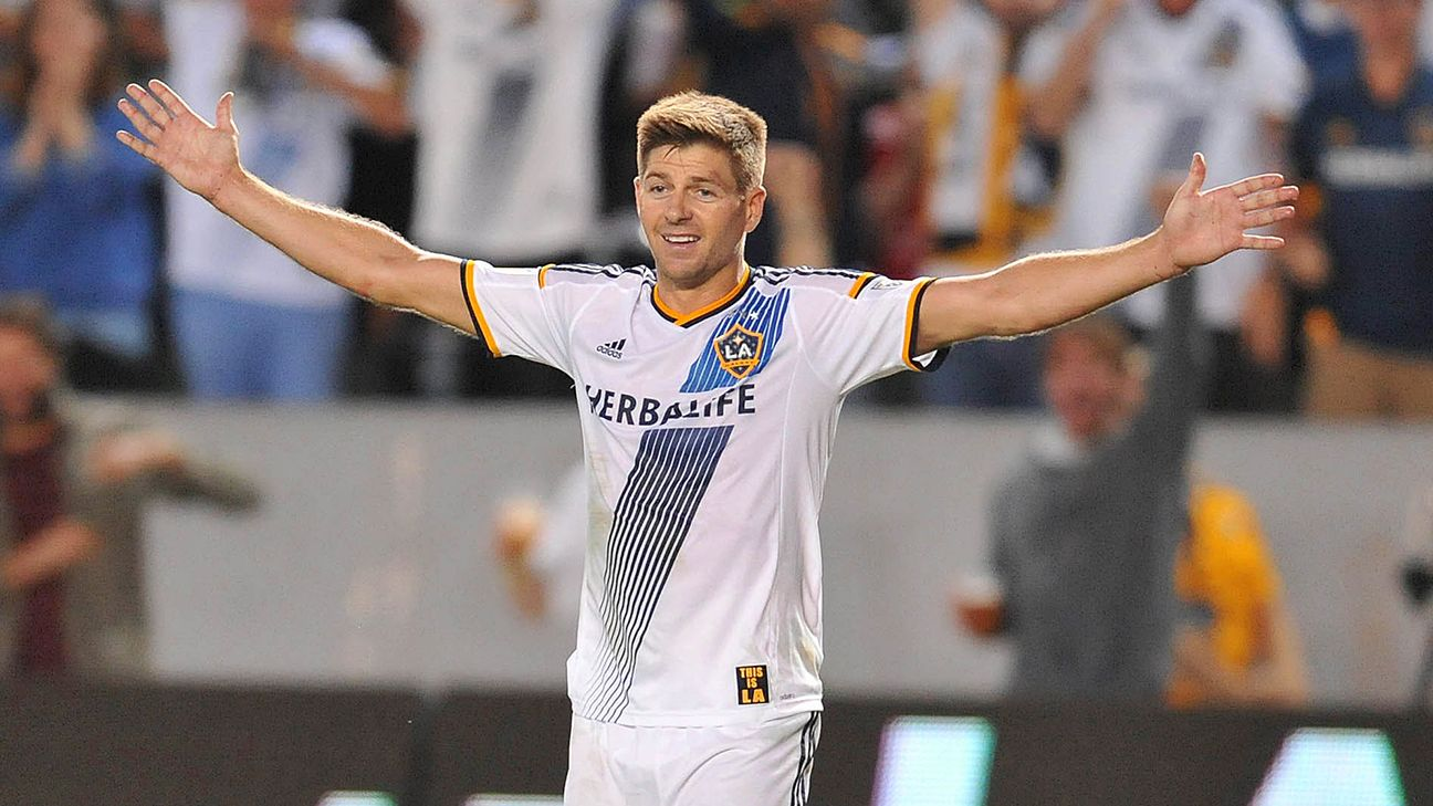 Steven Gerrard started 14 matches and collected three goals after joining the L.A. Galaxy during the summer.