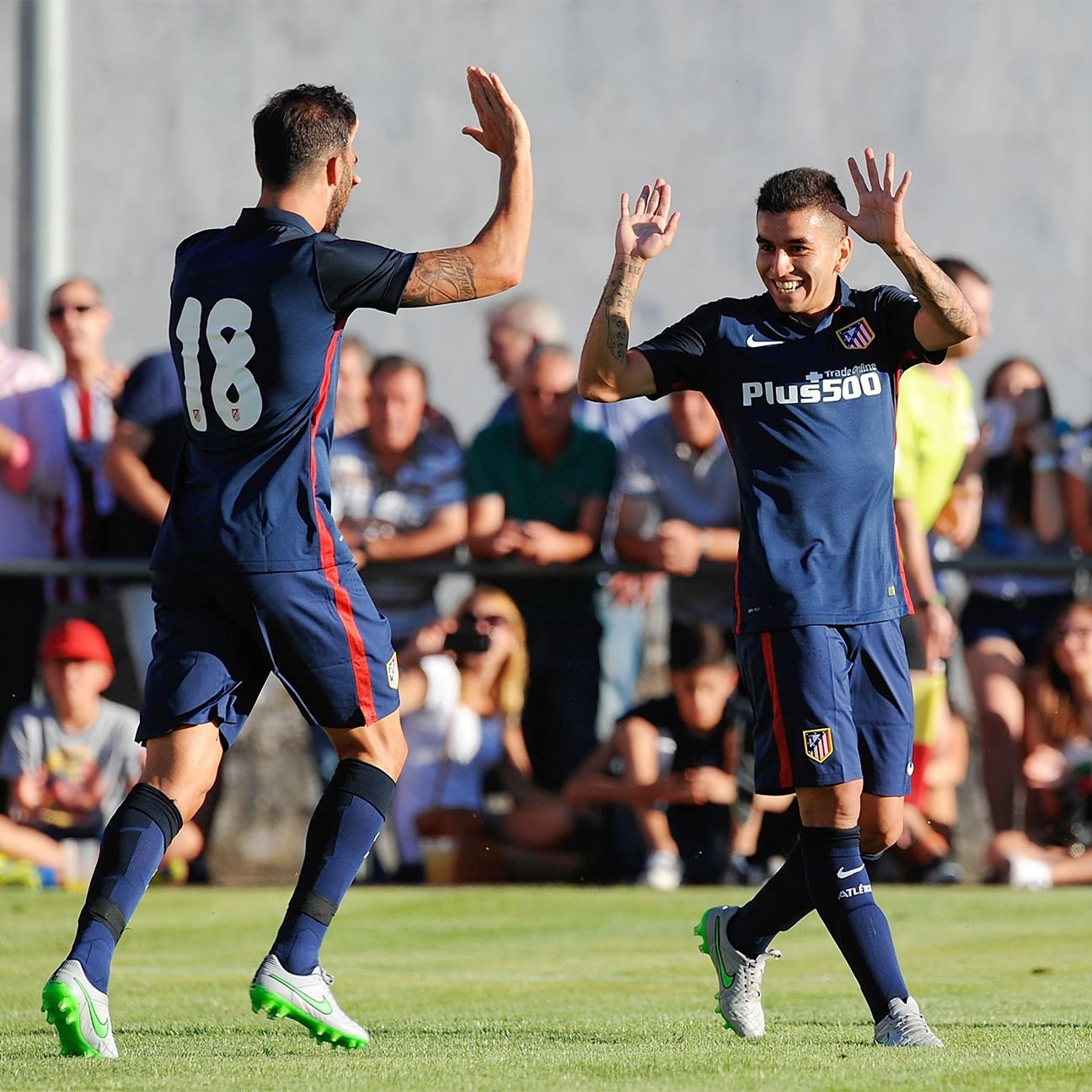 Angel Correa, right, gave a glimpse of his great promise in Atletico's preseason win over Numancia.