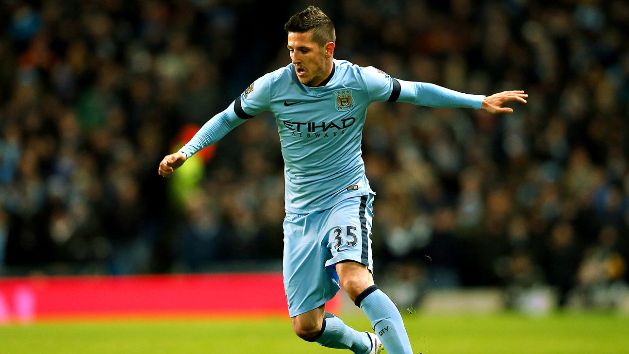 Stevan Jovetic started just nine Premier League matches for Manchester City in 2014-15.