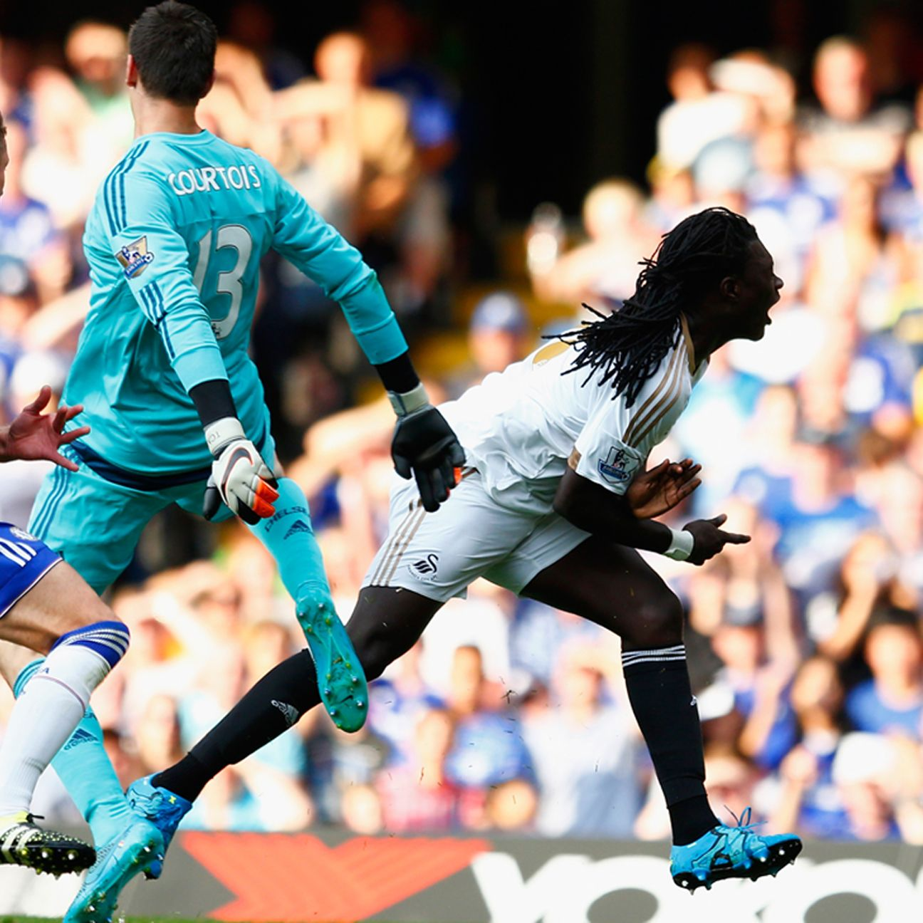Thibaut Courtois' sending off made for a nervy second half at Stamford Bridge.