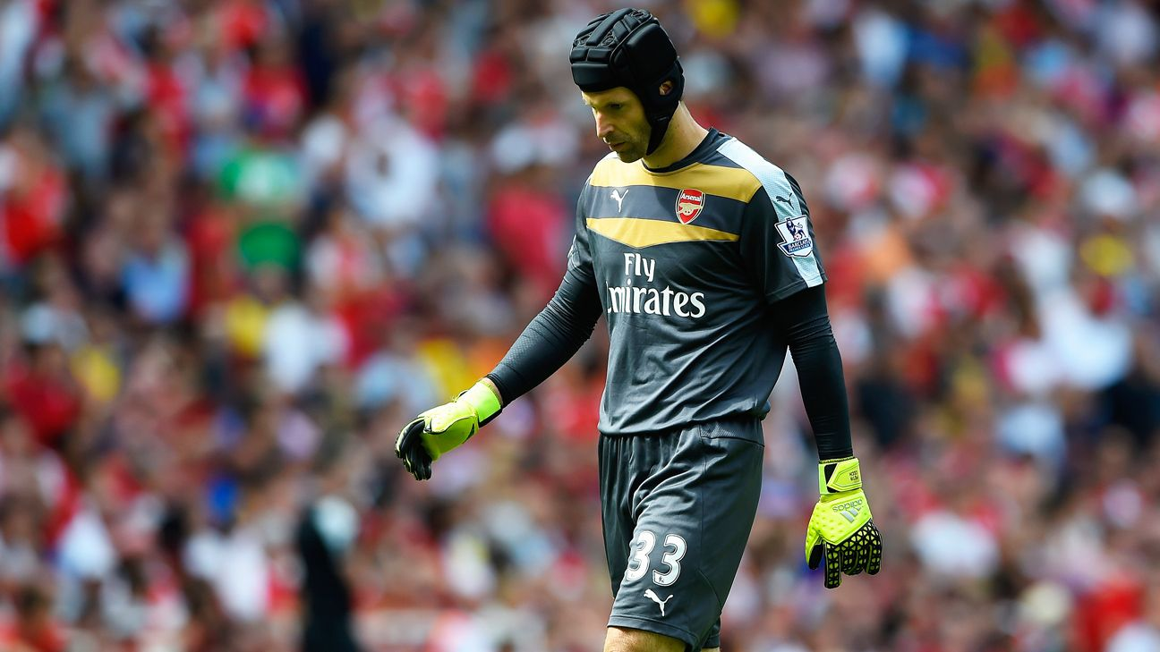 Petr Cech's Arsenal debut was one to forget.