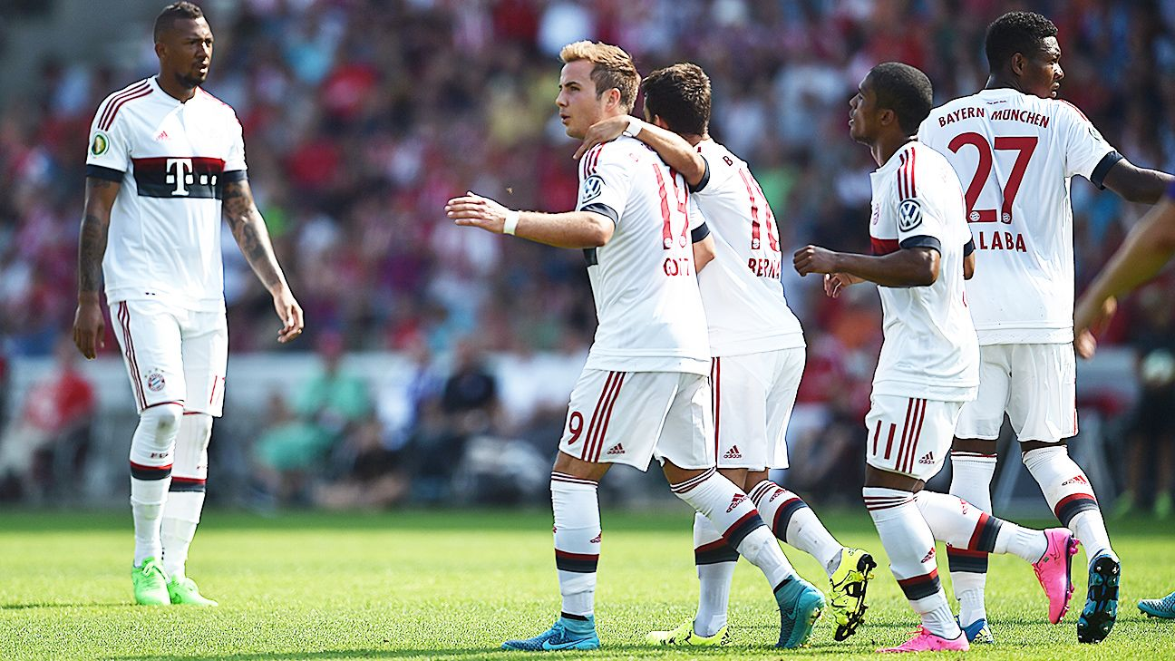 Mario Gotze tallied his first goal in a Bayern shirt since March.