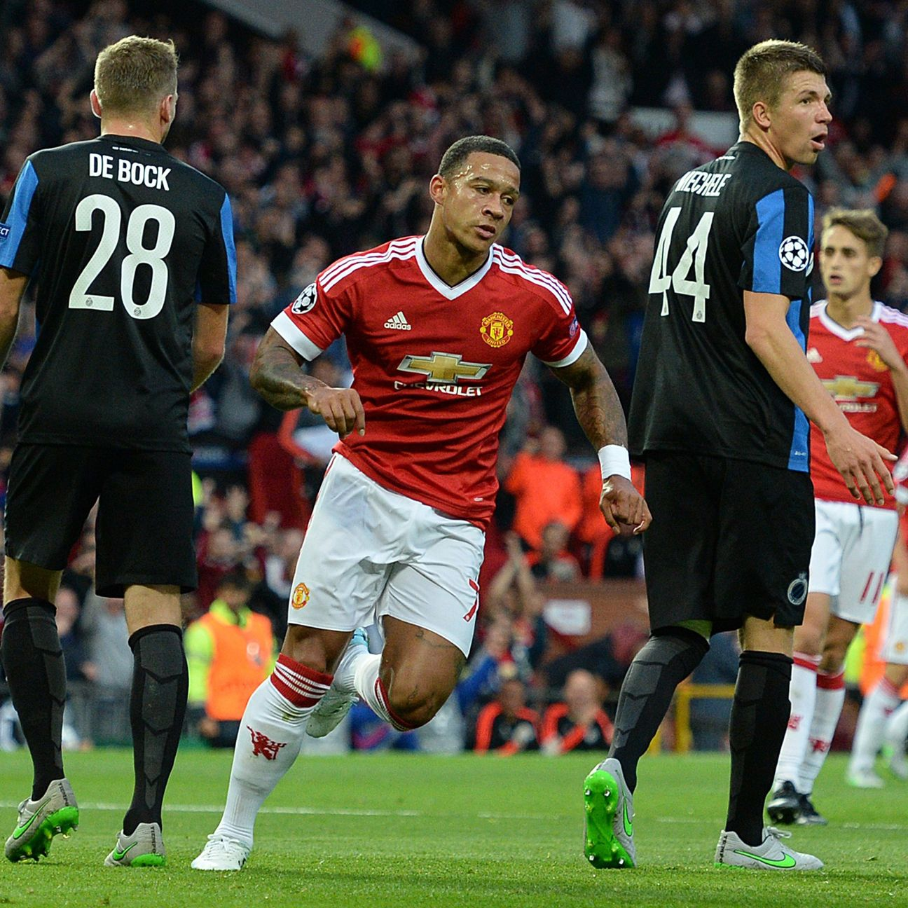 Memphis Depay helped United to a more comfortable cushion heading into next week's return leg.