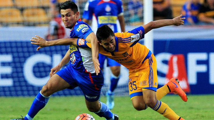 Copa Libertadores finalists Tigres were fortunate to overcome a flat performance at home and sink Mepatan thanks to two late goals.