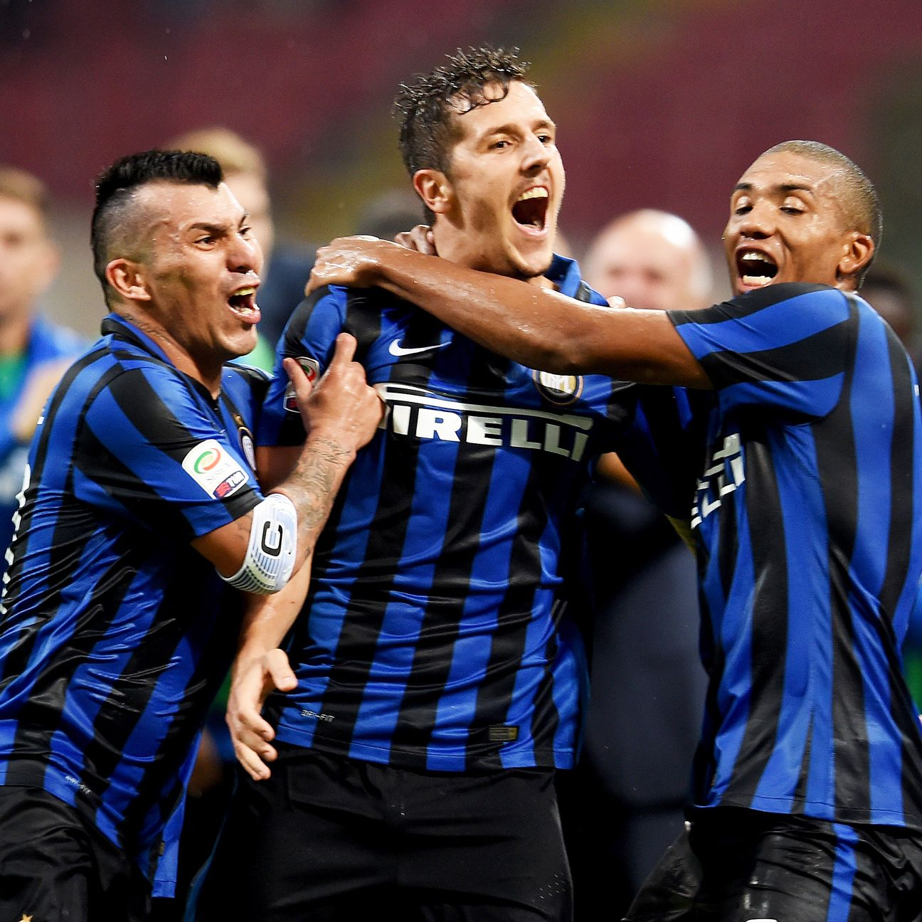 New addition Stevan Jovetic, center, has already provided a boost for Inter Milan.