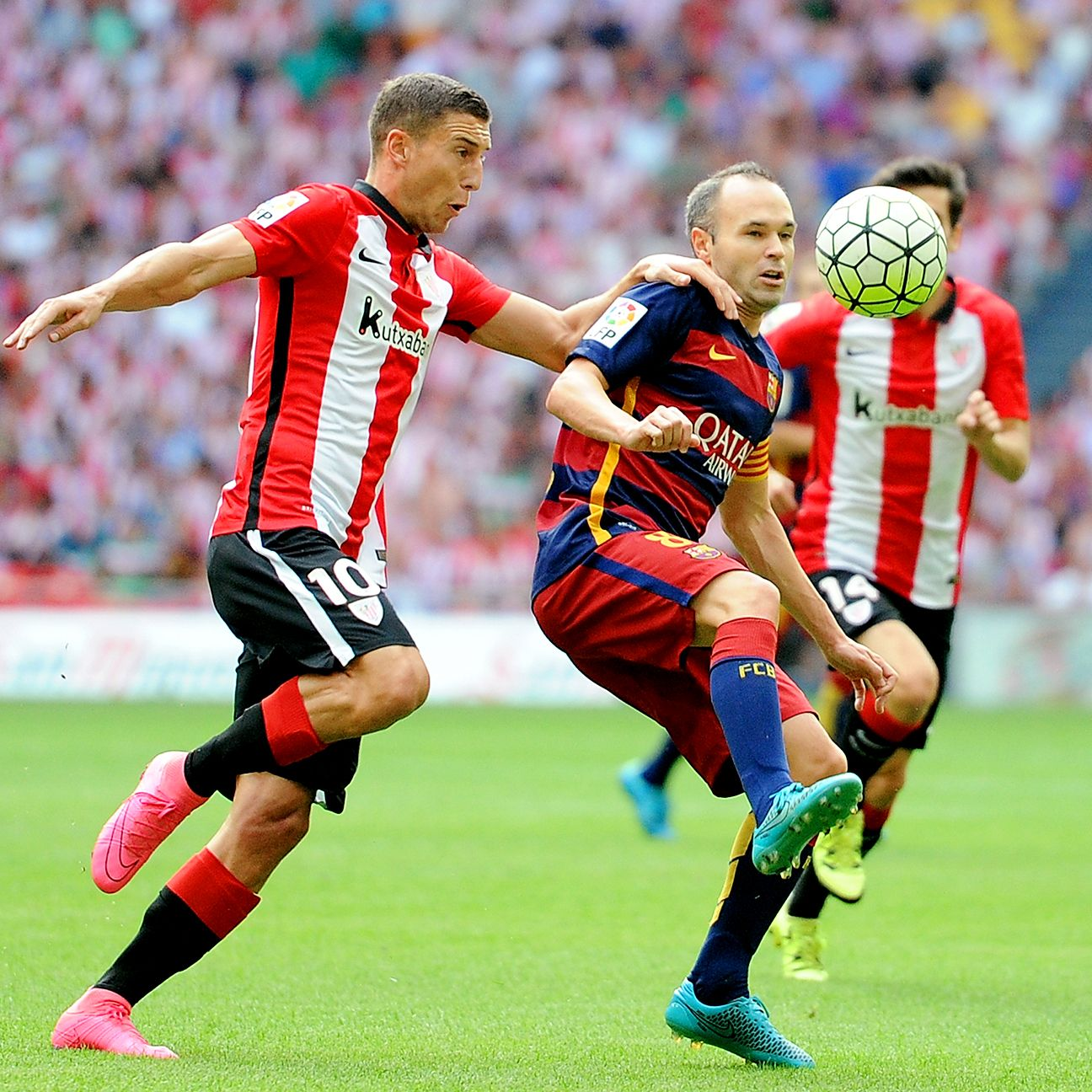 After being humbled by Athletic in the Spanish Super Cup, Andres Iniesta and Barcelona turned the tables on the Basques with a 1-0 win on Sunday.
