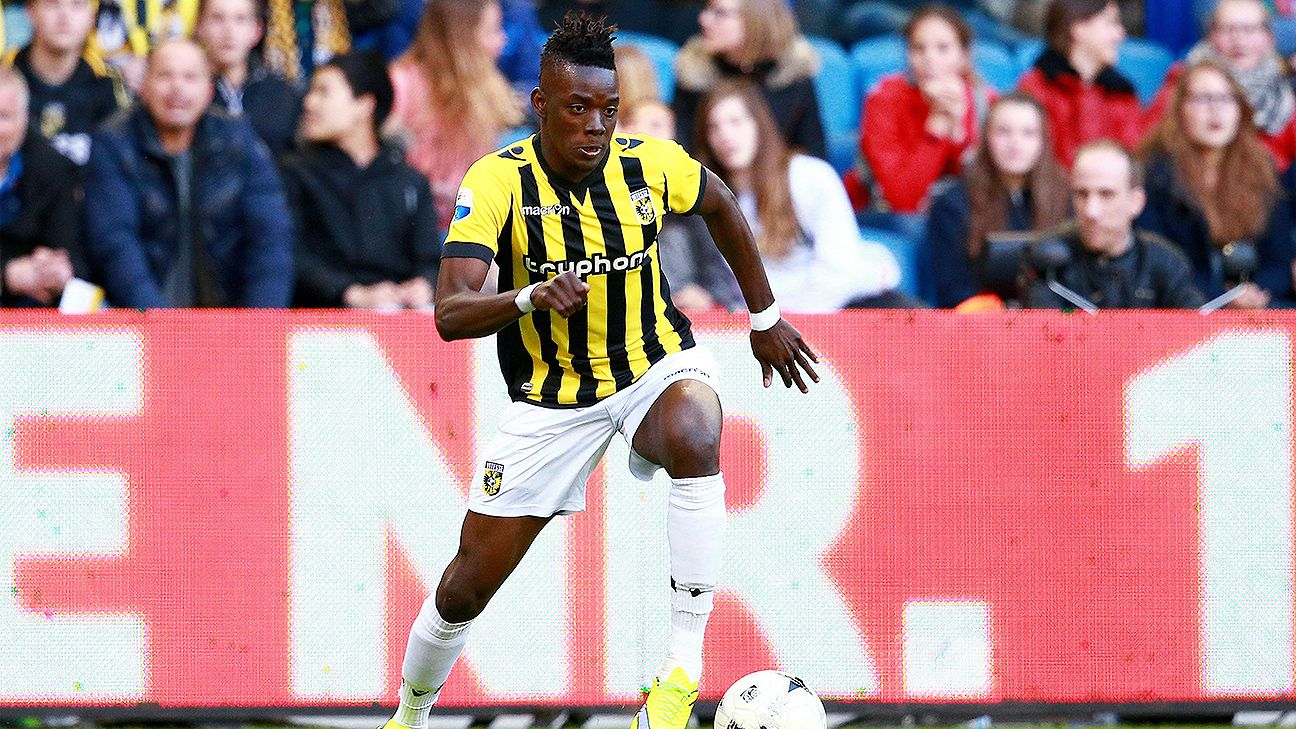 Bertrand Traore had 14 goals in 31 Eredivisie matches with Vitesse in 2014-15.