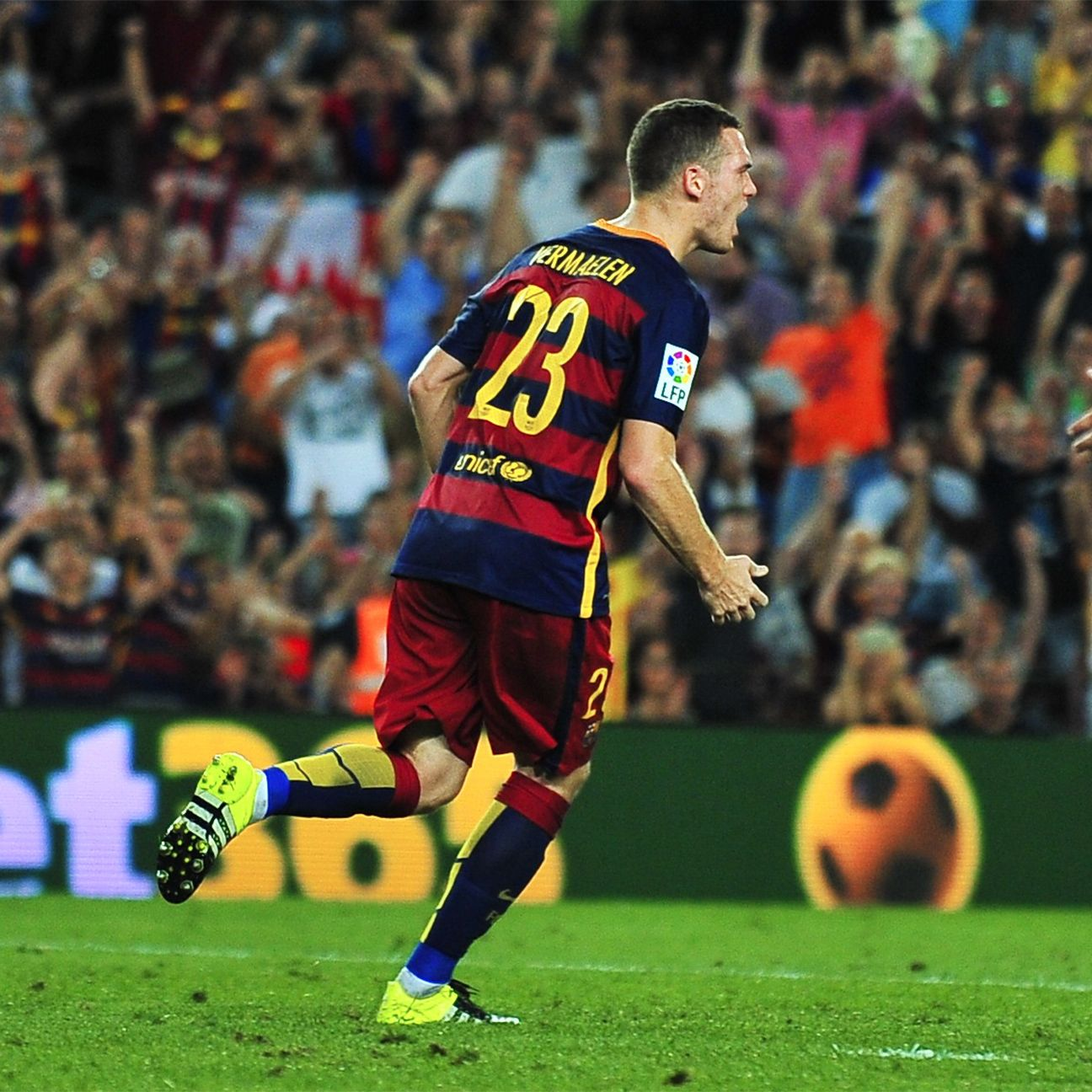 Thomas Vermaelen was an unlikely hero for Barcelona in their narrow win over Malaga.