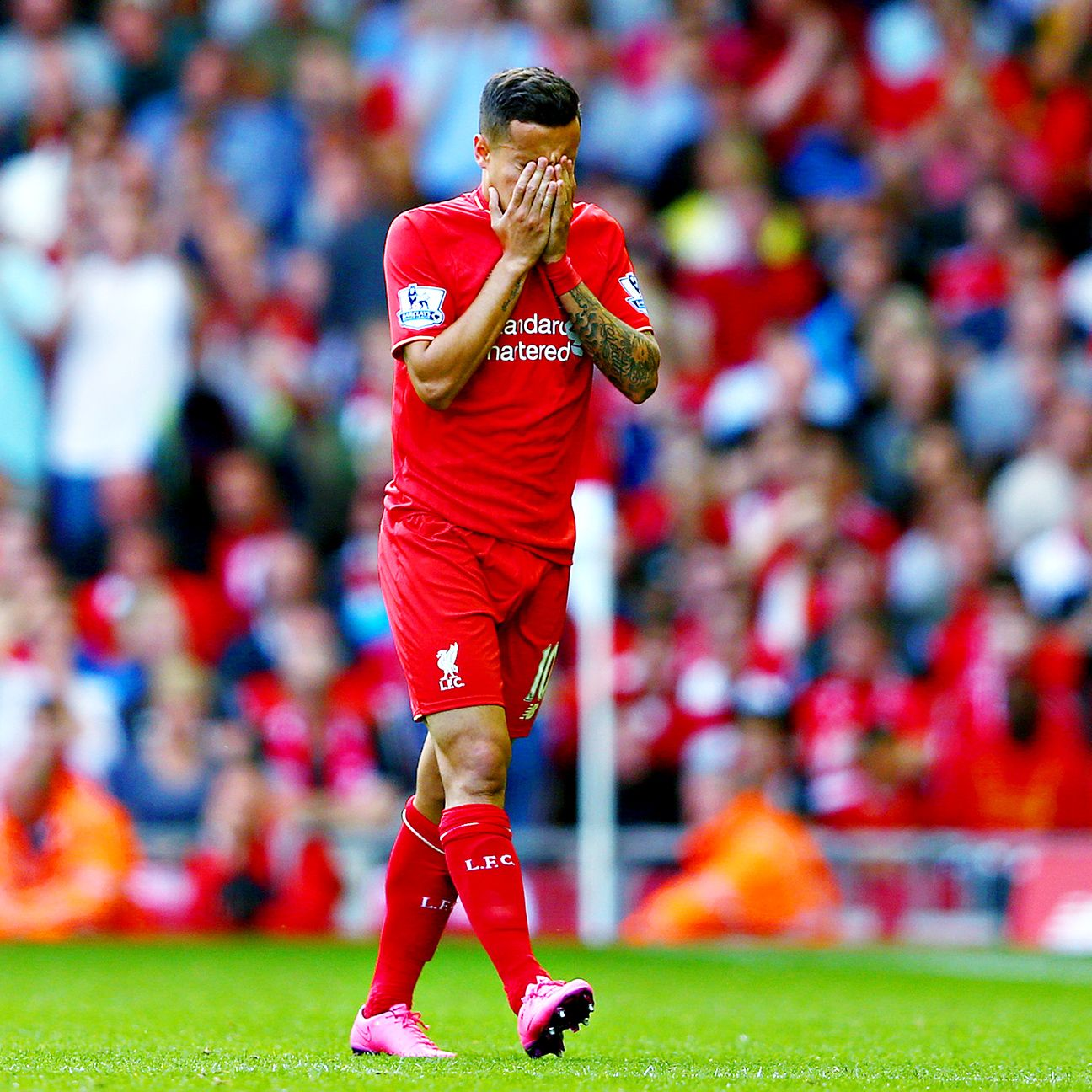 Philippe Coutinho had little influence in Liverpool's 1-1 draw at Everton.