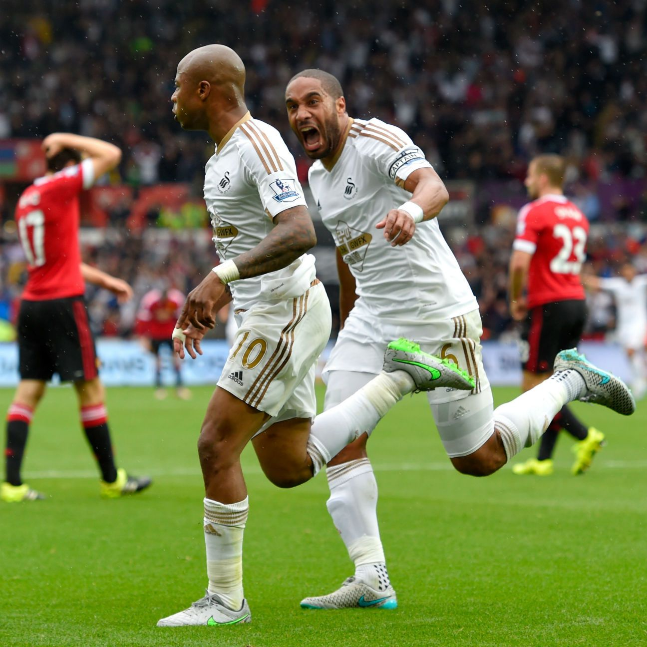 Andre Ayew continued his brilliant start at Swansea with the equaliser against Manchester United.