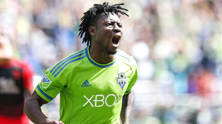 Obafemi Martins scored 40 goals in his three campaigns in the MLS, firing Seattle Sounders to the US Open Cup and the MLS Supporters Shield in 2014.