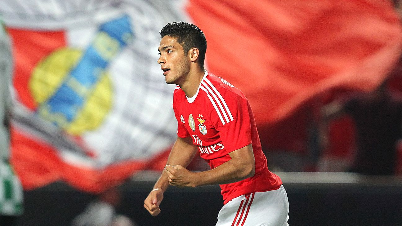 Raul Jimenez will go up against Mexico teammates Hector Herrera, Miguel Layun and Jesus Corona when Benfica head north to face rivals Porto.