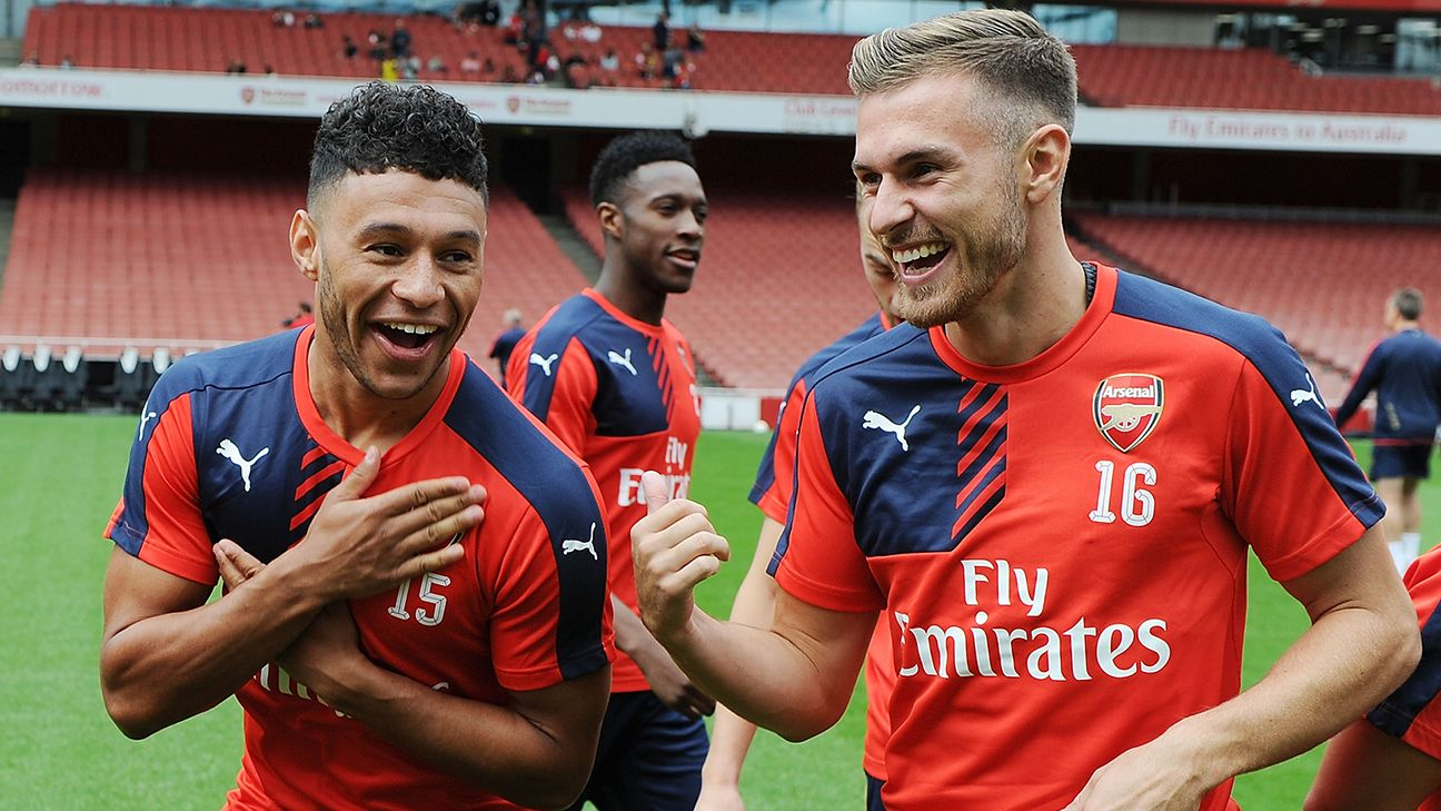 Arsenal s Alex Oxlade Chamberlain Aaron Ramsey miss Manchester