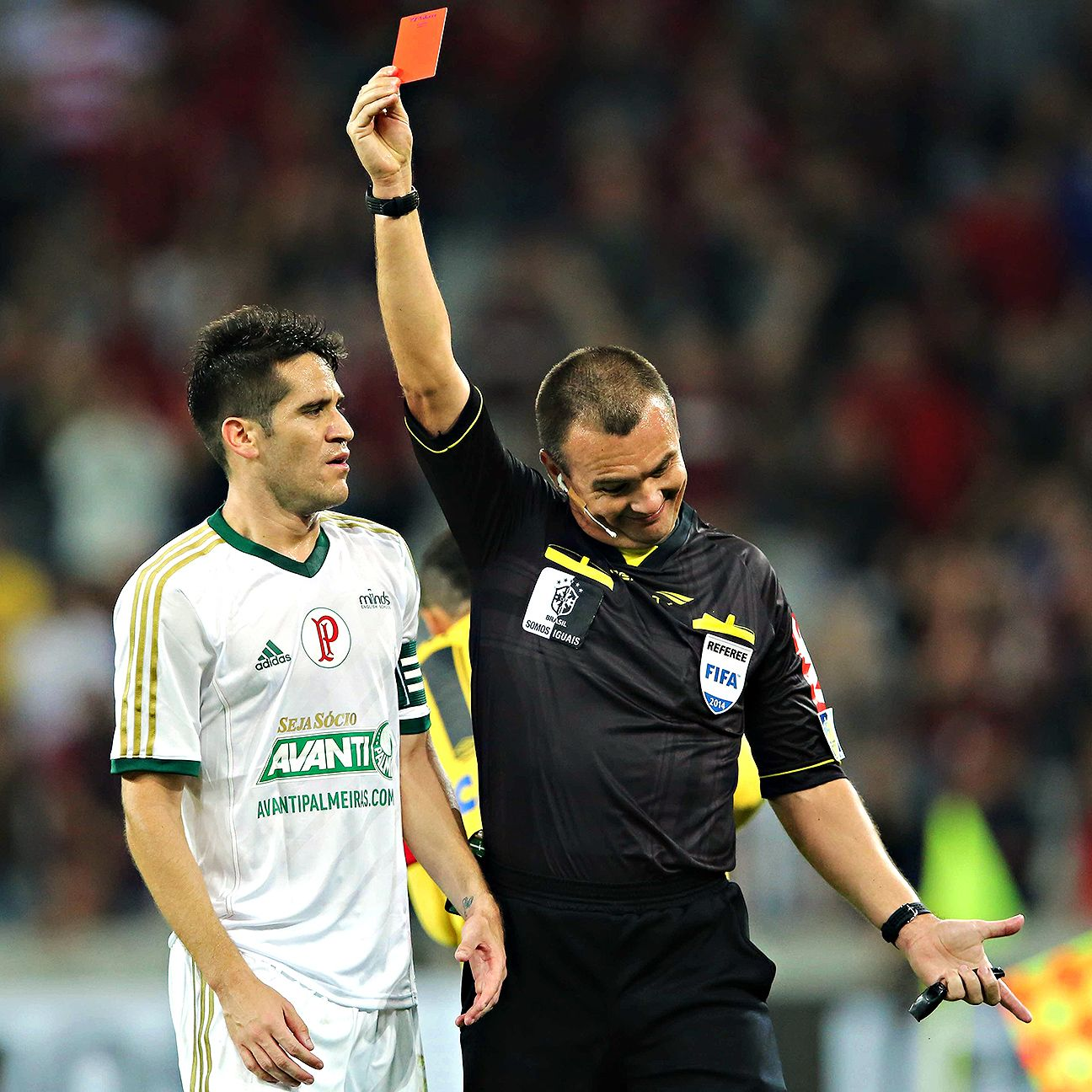 A controversial refereeing decision seems to happen each week in Brazilian football.