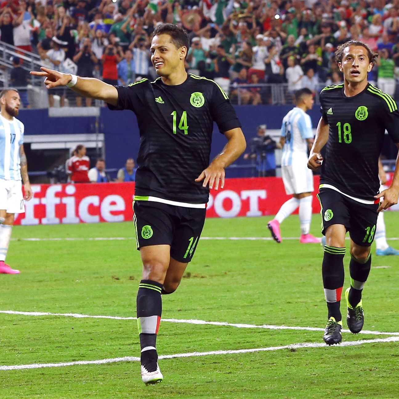 There is no stopping Chicharito Hernandez in 2015-16 for both club and country.