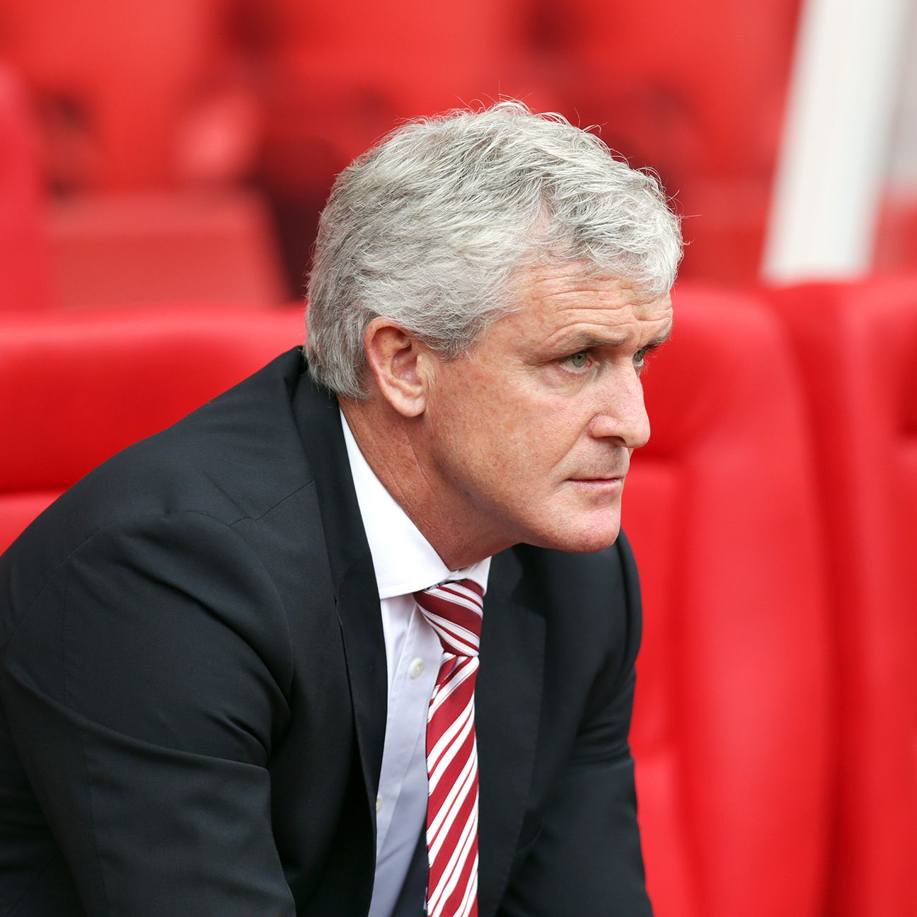 The pressure is on Stoke manager Mark Hughes to collect the team's first win of the season at home against Bournemouth.