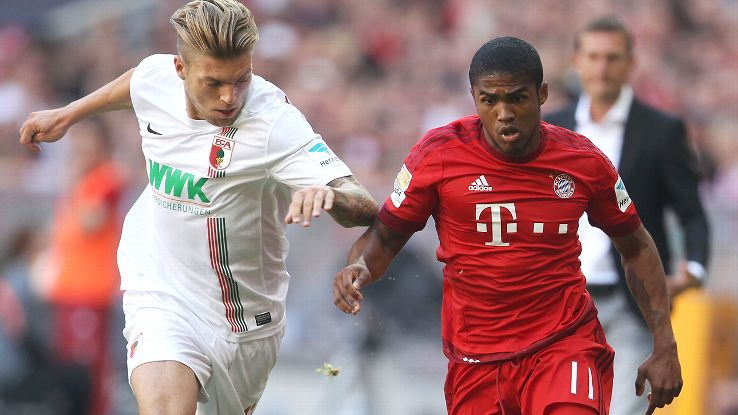 Douglas Costa was a solid presence in the Bayern Munich midfield on Saturday.