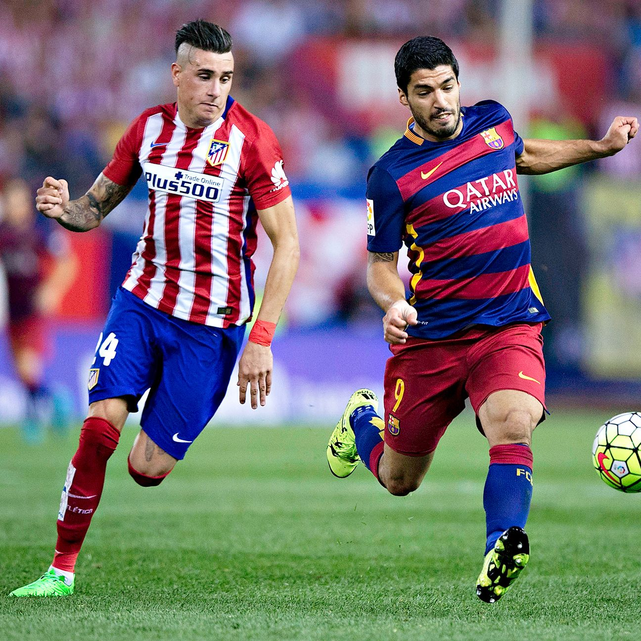 Atletico centre-back Jose Maria Gimenez did well to keep countryman Luis Suarez under wraps.