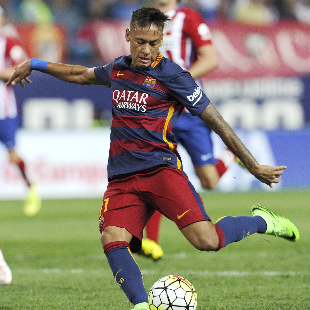 Neymar's free kick led Barcelona's comeback at Atletico.