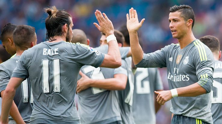 Cristiano Ronaldo reaped the rewards of Gareth Bale's playmaking in Real Madrid's romp over Espanyol.