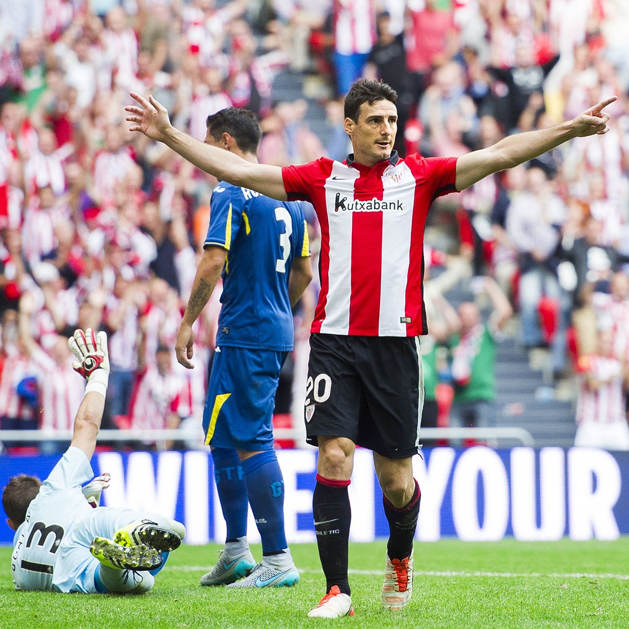 Athletic Bilbao forward Aritz Aduriz has scored 17 goals in La Liga so far this season.