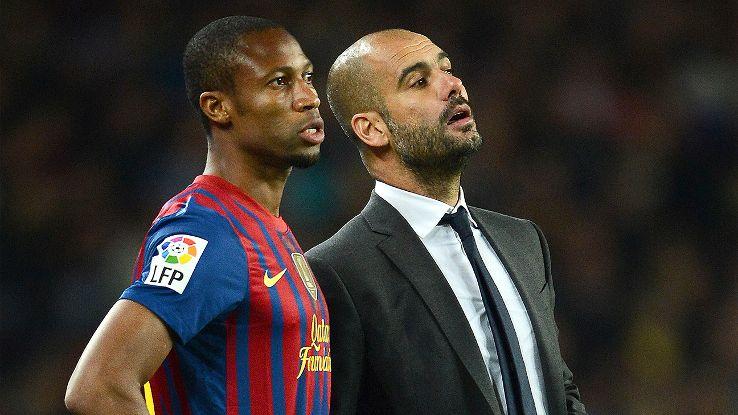 Seydou Keita and Pep Guardiola