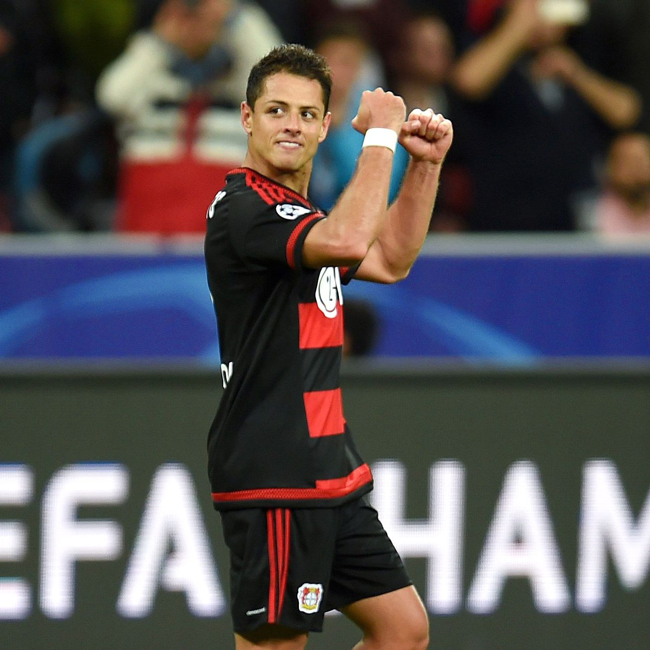 Chicharito Hernandez helped lead Bayer Leverkusen to three points in their Champions League opener against BATE.