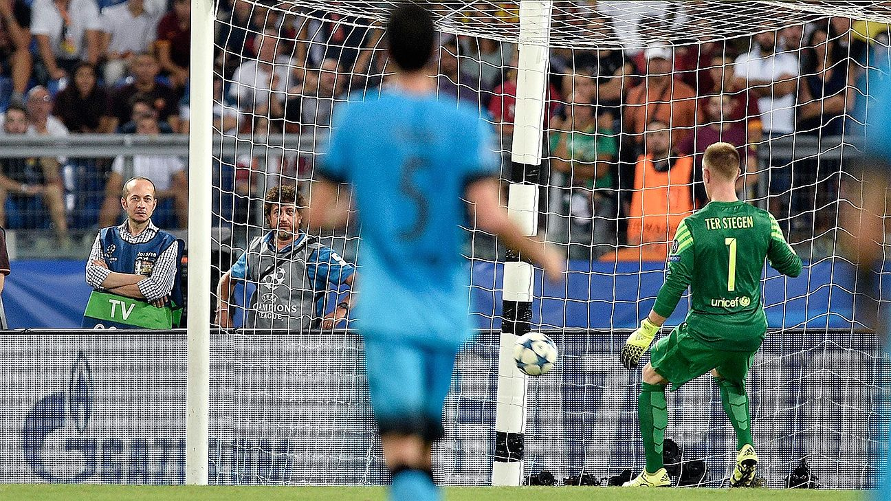 For the second time this season, Barcelona goalkeeper Marc-Andre ter Stegen was beaten from 50-plus yards out.