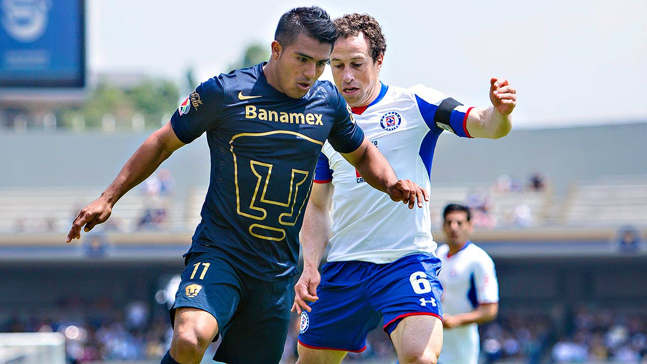 Pumas' winning streak will be on the line Saturday when they visit city rivals Cruz Azul.
