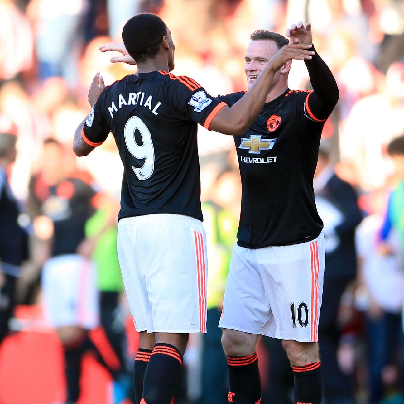 Manchester United's Wayne Rooney And Anthony Martial Out