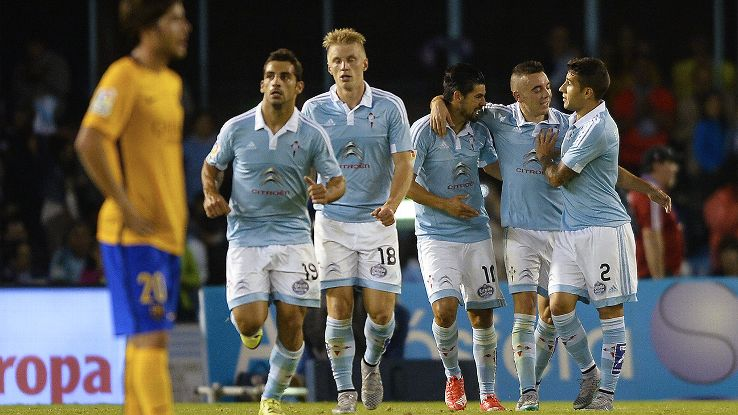 Celta sit second in La Liga following their 4-1 hammering of Barcelona.