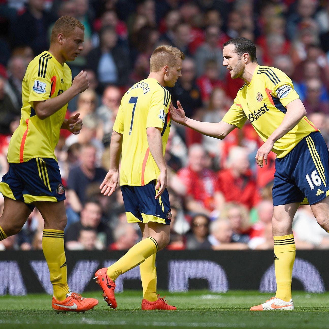 Seb Larsson was the hero when Sunderland stunned Manchester United at Old Trafford in 2013-14.