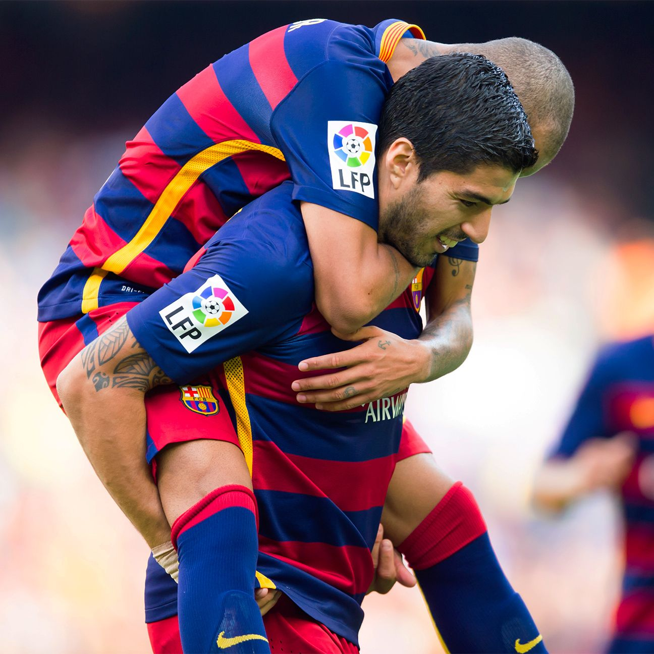 With Barcelona missing their superstar, Suarez stepped up to carry the load.