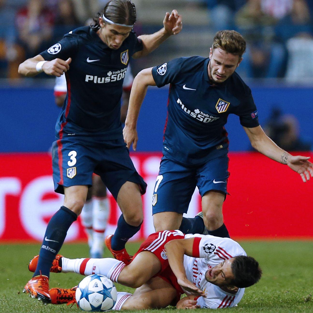 Filipe Luis' defensive lapse led to Benfica's winner.