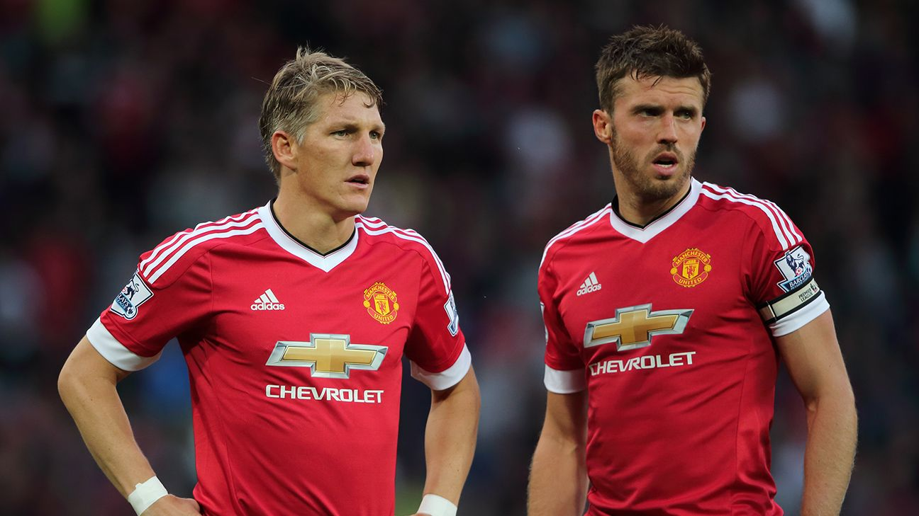 Bastian Schweinsteiger, left, and Michael Carrick have combined to make Man United's defensive midfield one of the tightest in the league.