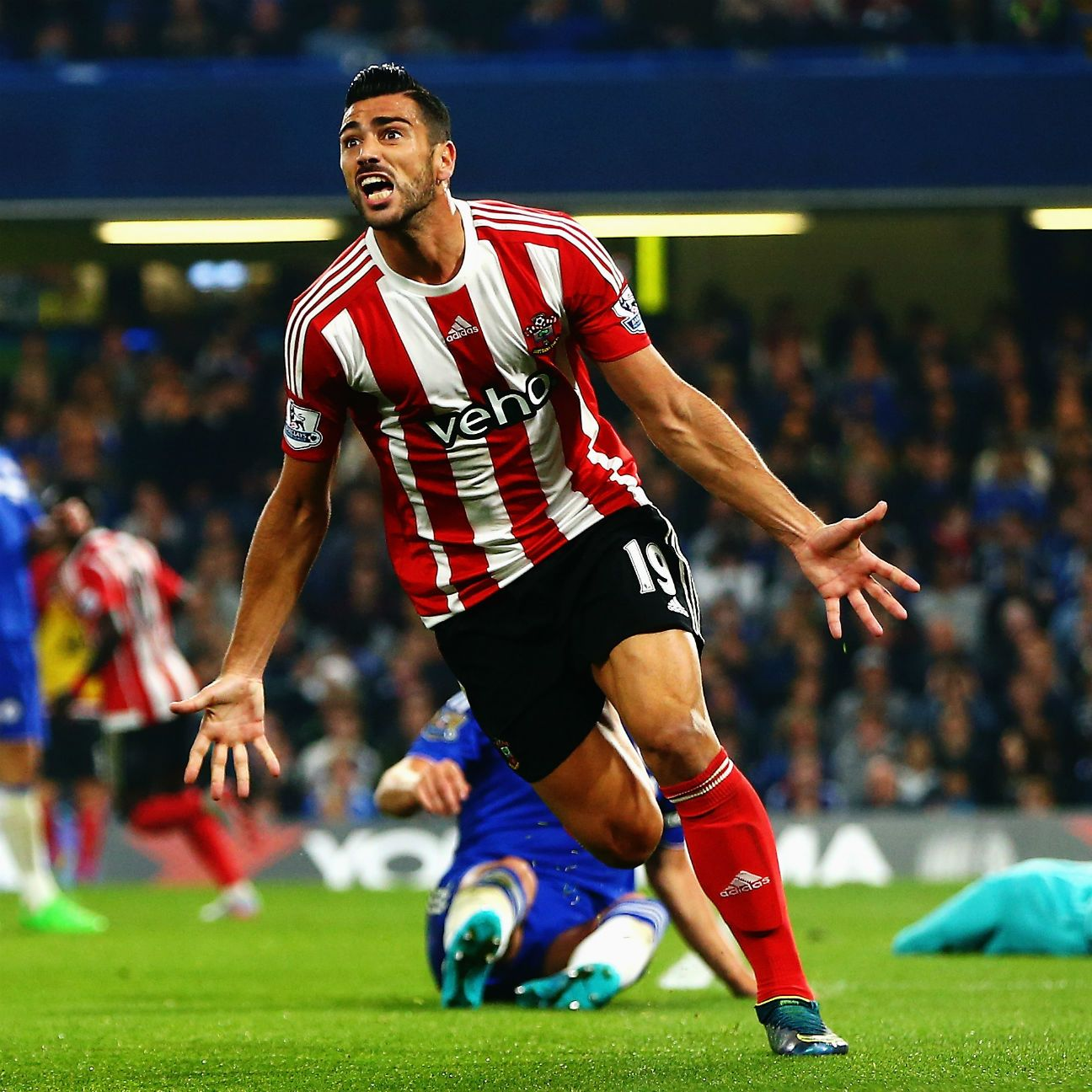Graziano Pelle has six goals in 16 Premier League matches for Southampton.